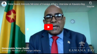 Grenada Minister of Foreign Affairs interview on Kawana Bay