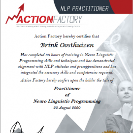 Practitioner of Neuro Linguistic Programming